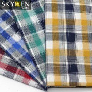 Tartan Material Cotton Fabric