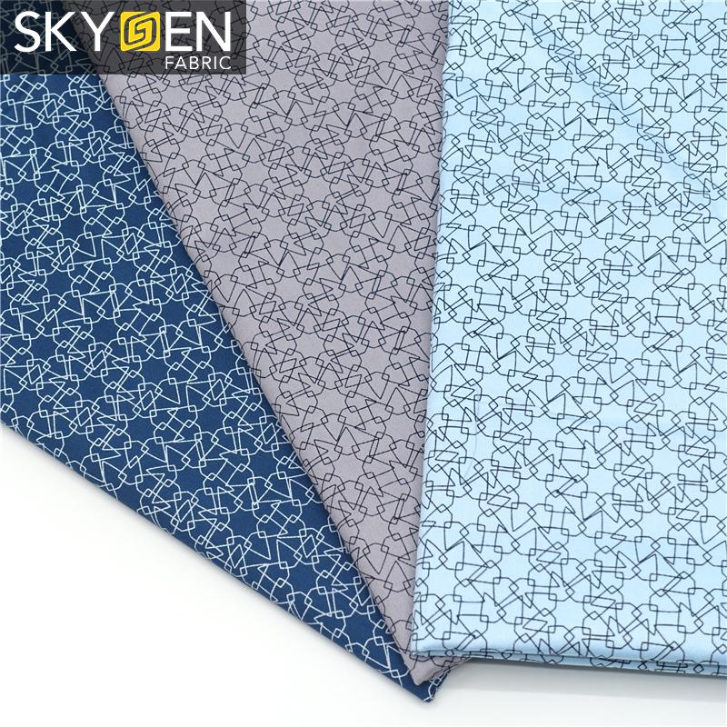 fabric with geometric print