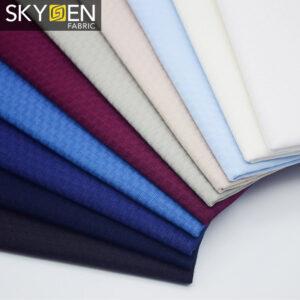 cotton dobby shirt fabric