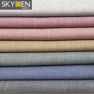 melange cotton oxford fabric