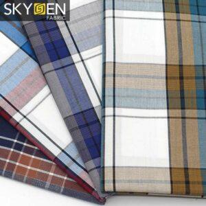 SDP04 Peached Cotton Tartan Fabric